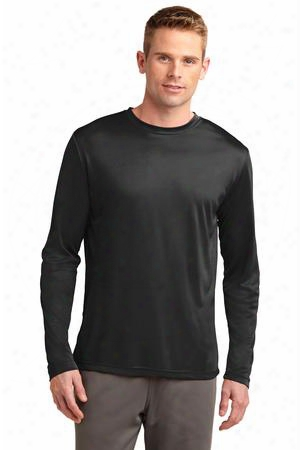 Sport-tek Clearance Long Sleeve Posichargeâ® Competitor™ Tee - Black - Unisex - Corporate Apparel