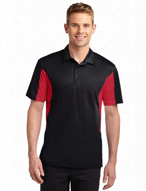 Sport-tek Sport-wick Polo - Black-true Red - Unisex - Corporate Apparel