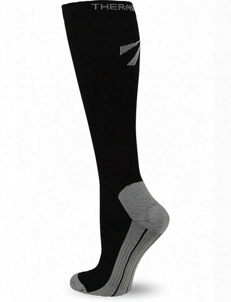 Therafirm 15-20 Mmhg Unisex Knee High Recovery Compression Socks - Black - Unisex - Women's Scrubs