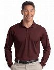 Sport-Tek Long Sleeve Micropique Sport-Wick Polo - Maroon - male - Corporate Apparel