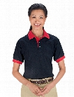 USA MADE Contrast Trim Unisex Sport Polo Shirt - Black-Red - unisex - Corporate Apparel