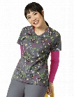 Zoe + Chloe Monkey Shine Scrub Top - Print - female - Women's Scrubs