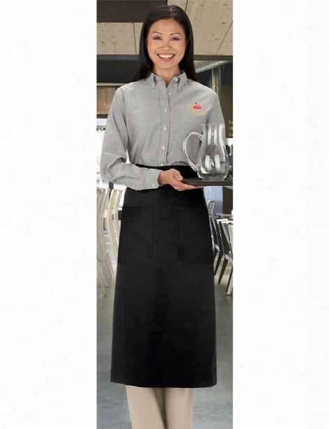 Uniform Warehouse Uniform Warehouse Two Pocket Bistro Apron - Unisex - Chefwear