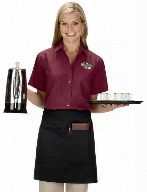 Uniform Warehouse Uniform Warehouse Two Pocket Half Bistro Apron - Unisex - Chefwear