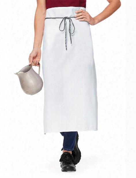 Uniform Warehouse Uniform Warehouse White Bar Apron - Unisex - Chefwear