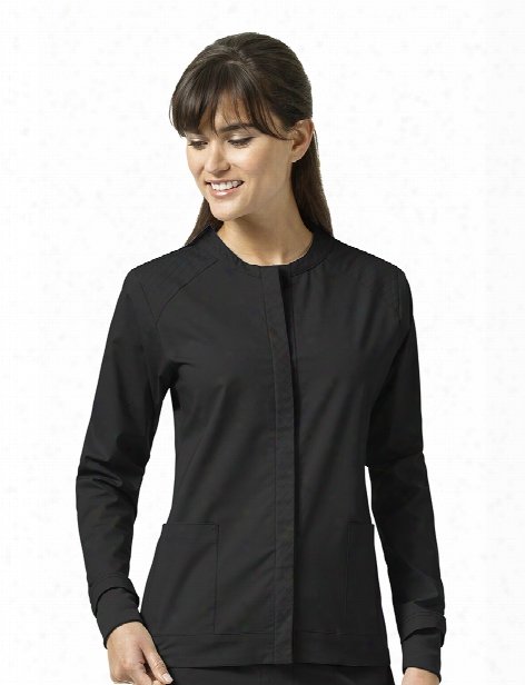 Vera Bradley Signature Ruth Warm Up Jacket - Black - Female - Women's Scrubs