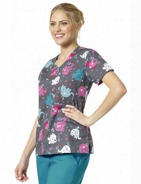 Zoe + Chloe Mary Mack Scrub Top - Print - Female - Women's Scrubs