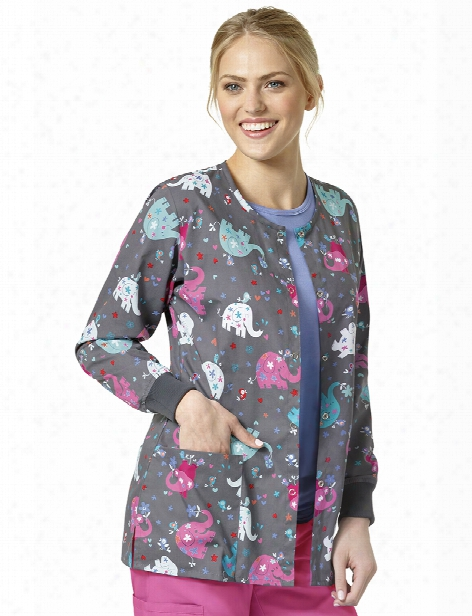 Zoe + Chloe Mary Mack Warm-up Jacket - Print - Female - Women's Scrubs