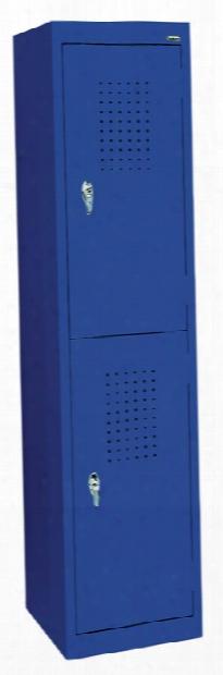 """15""""w X 18""""d X 66""""h Double Tier Storage Locker By Sandusky Lee"""