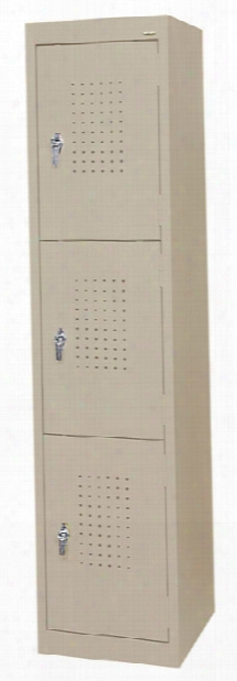 "15""w X 18""d X 66""h Triple Tier Storage Locker By Sandusky Lee"