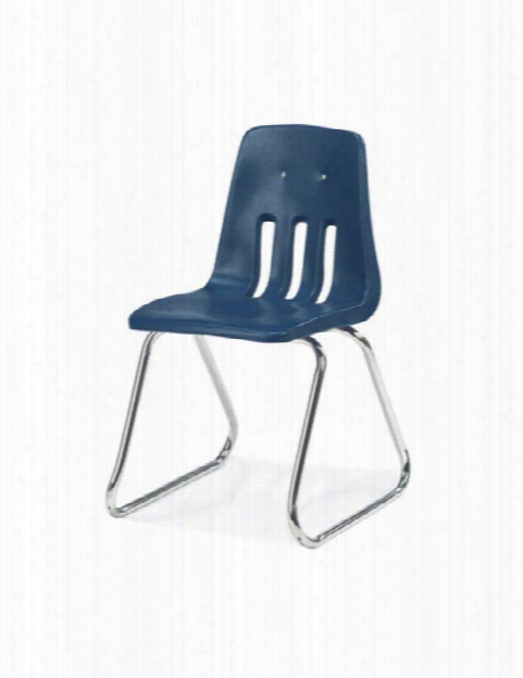 """16"""" Sled Base Stack Chair By Virco"""