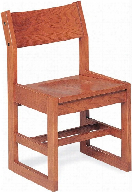 "16"" Wooden Library Chair By Virco"