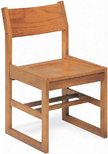 "18"" Wooden Library Chair By Virco"