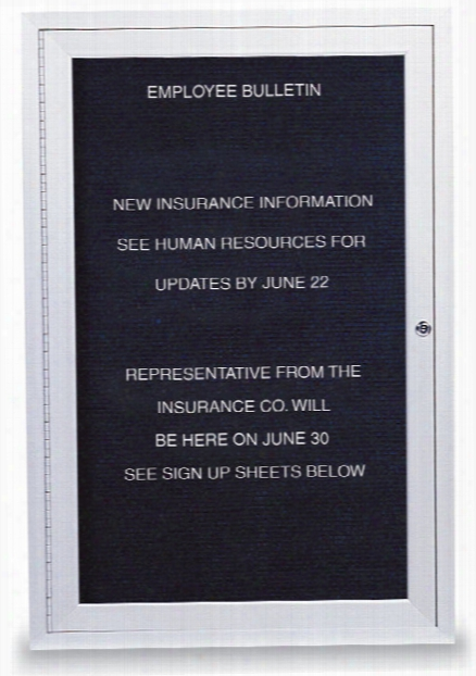 """18"""" X 24"""" Outdoor Enclosed Letterboard By United Visual"""