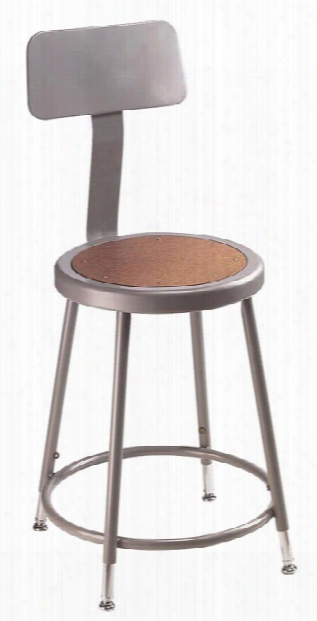 "18""h Stool With Backrest By National Public Seating"