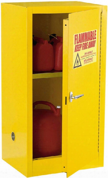 """23""""w X 18""""d X 35""""h Compact Flammable Safety Cabinet By Sandusky Lee"""