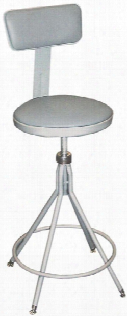 """24""""-28"""" Adjustable Height Swivel Stool With Backrest By National Public Seating"""