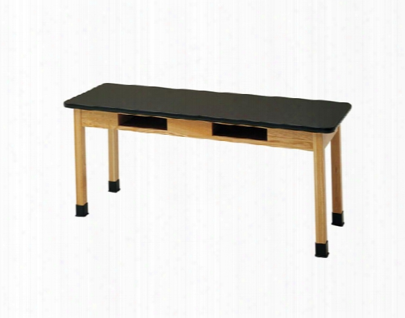 """24"""" X 60"""" Book Compartment Table With Epoxy Top By Diversified Woodcrafts"""