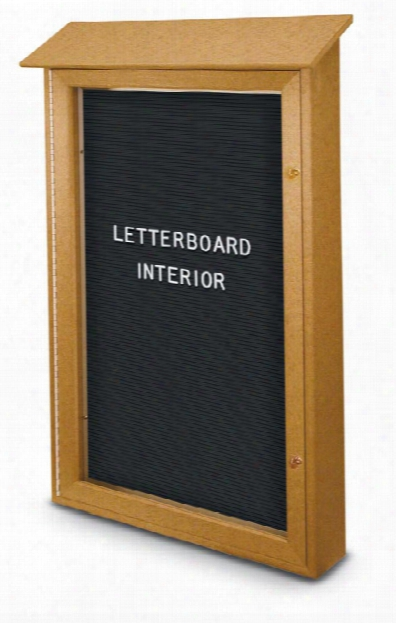 "26"" X 42"" Letterboard Single Door Message Center By United Visual"
