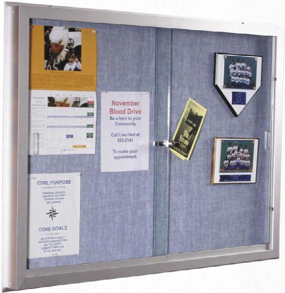 3' X 4' Bulletin Board Cabinet By Best Rite