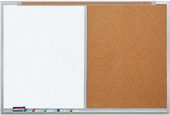 3 X 4 Markerboard And Tackboard Combo Unit By Claridge