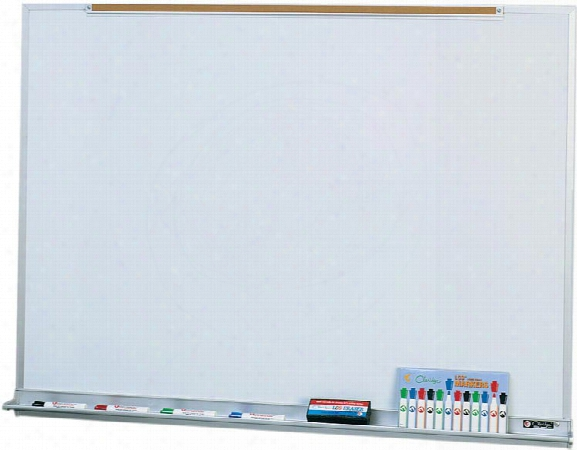 3 X 4 Porcelain Markerboard With Map Rail By Claridge