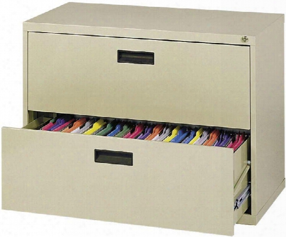 "30""w X 18""d X 26.63""h 2 Drawer Lateral File By Sandusky Lee"