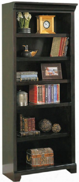 "32""w X 15""d X 75""h Solid Wood Open Bookcase By Wilshire Furniture"