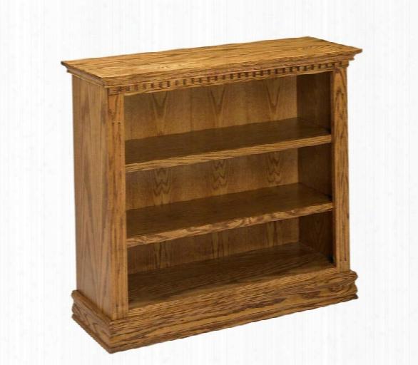 """36"""" Solid Oak Britania Bookcase By A & E Wood Designs"""