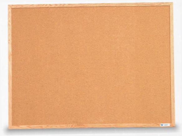 """36"""" X 24"""" Oak Framed Corkboard By United Visual"""
