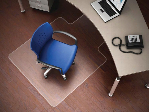 """36"""" X 48"""" Chairmat With Lip For Hard Floors By Deflecto"""