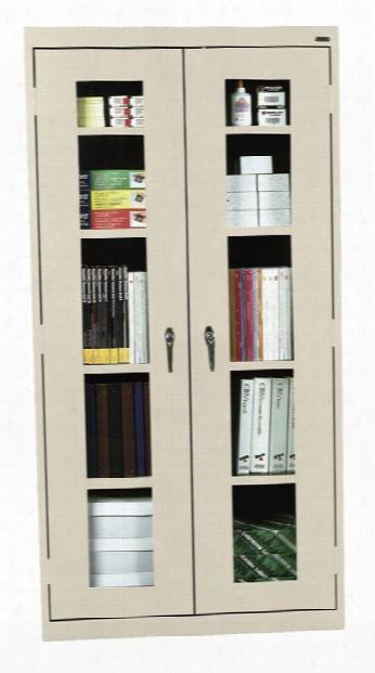 "36""w X 12""d X 72""h Clear View Storage Cabinet By Sandusky Lee"
