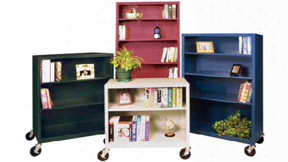 "36""w X 18""d X 36""h Steel Mobile Bookcase By Sandusky Lee"