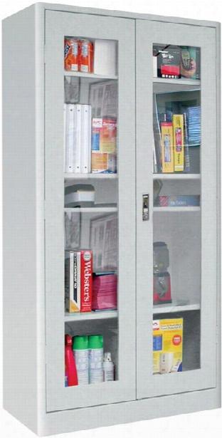 "36""w X 18""d X 72""h Radius Edge Clearview Storage Cabinet By Sandusky Lee"