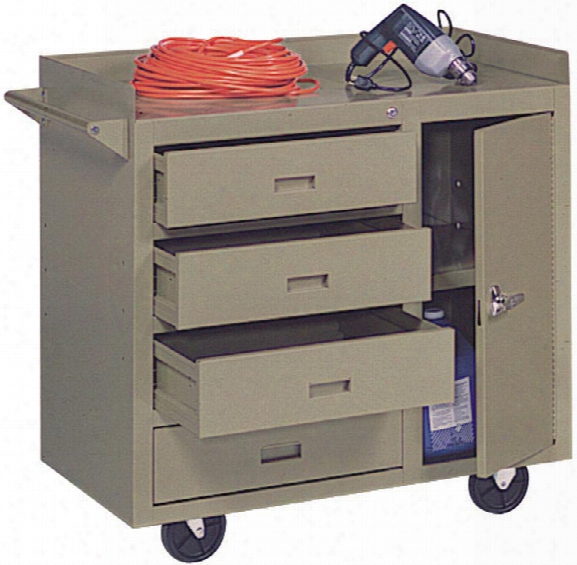 "36""w X 22""d X 34""h Mobile Maintenance Bench By Sandusky Lee"