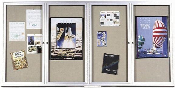4' X 8' Deluxe Bulletin Board Cabinet By Best Rite