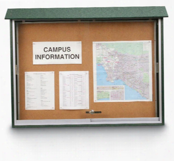 "45"" X 30"" Sliding Door Message Center By United Visual"