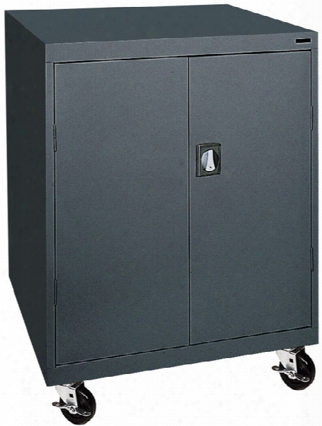 "46""w X 24""d X 48""h Mobile Storage Cabinet By Sandusky Lee"