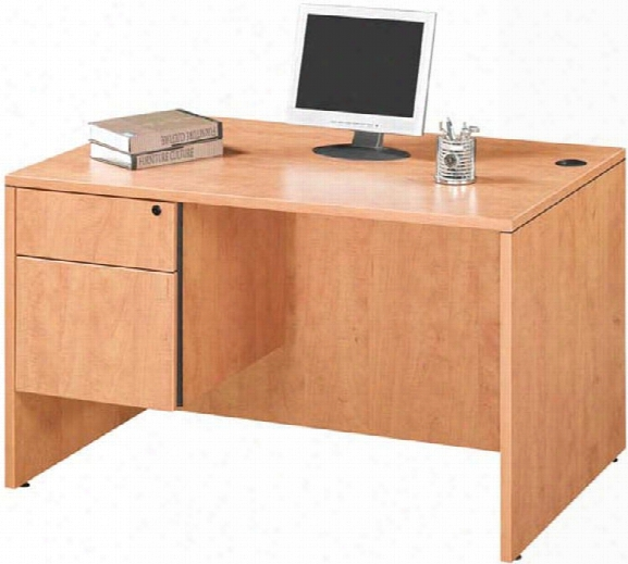 "47"" Single Pedestal Desk By Marquis"