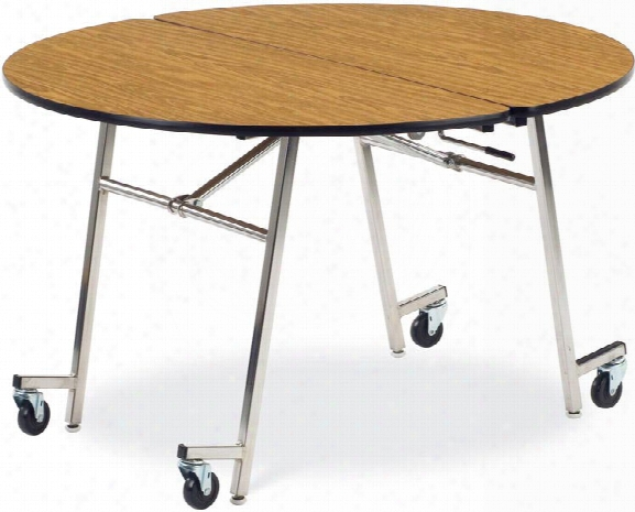 """48"""" Round Mobile Folding Table By Virco"""