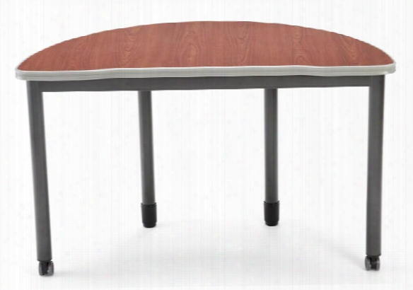 """48"""" X 24"""" Half Round Table By Ofm"""