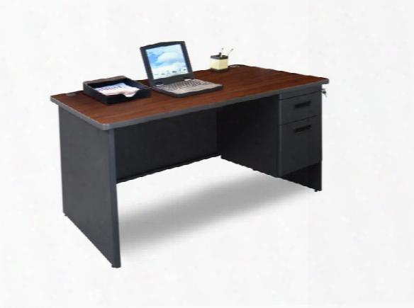 """48"""" X 30"""" Single Pedestal Steel Desk By Marvel"""