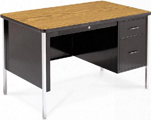 "48"" X 30"" Single Pedestal Steel Desk By Virco"