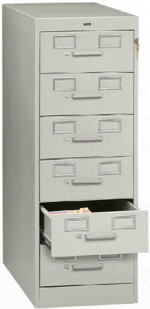 6 Drawer Card File By Tennsco