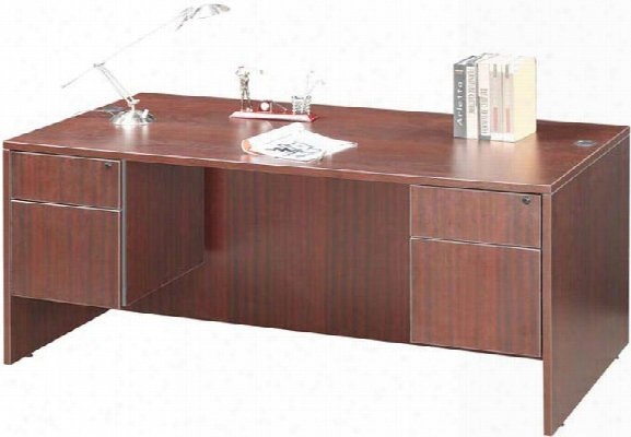"60"" Double Pedestal Desk By Marquis"