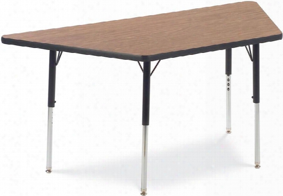 "60"" X 30"" Trapezoid Shaped Activity Table By Virco"