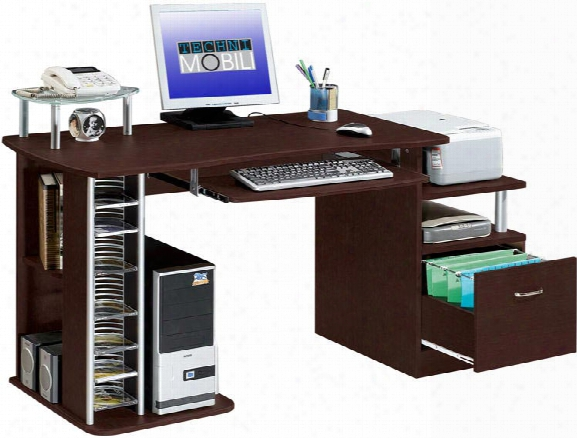 "60""w Computer Desk By Techni Mobili"