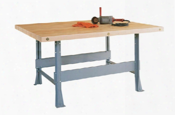 "64""w X 54""d X 32.25""h Four Station Workbench By Shain Solutions"