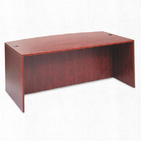 """72"""" Bow Front Desk Shell By Alera"""