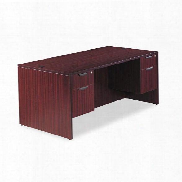 "72"" Double Pedestal Desk By Alera"